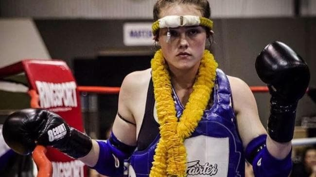 Jessica Lindsay, the Perth Muay Thai fighting teenager who died. Picture: Facebook