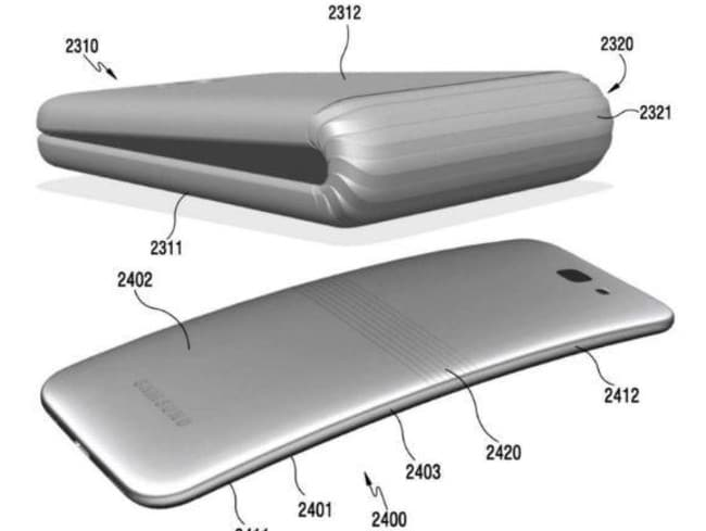 Samsung has also patented a foldable screen