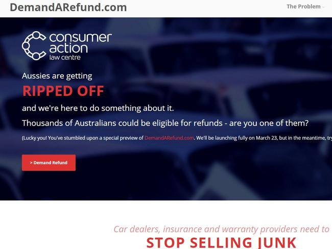 Consumer Action Law Centre's new website DemandArefund.com wants to hear from more ripped off consumers. Picture: demandarefund.com
