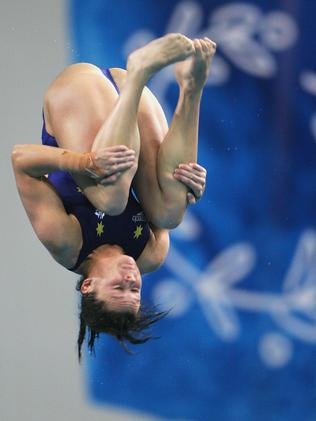 Amazing feat ... Chantelle Newbery competes in the women's diving 10 metre platform final at the Athens 2004 Olympic Games.