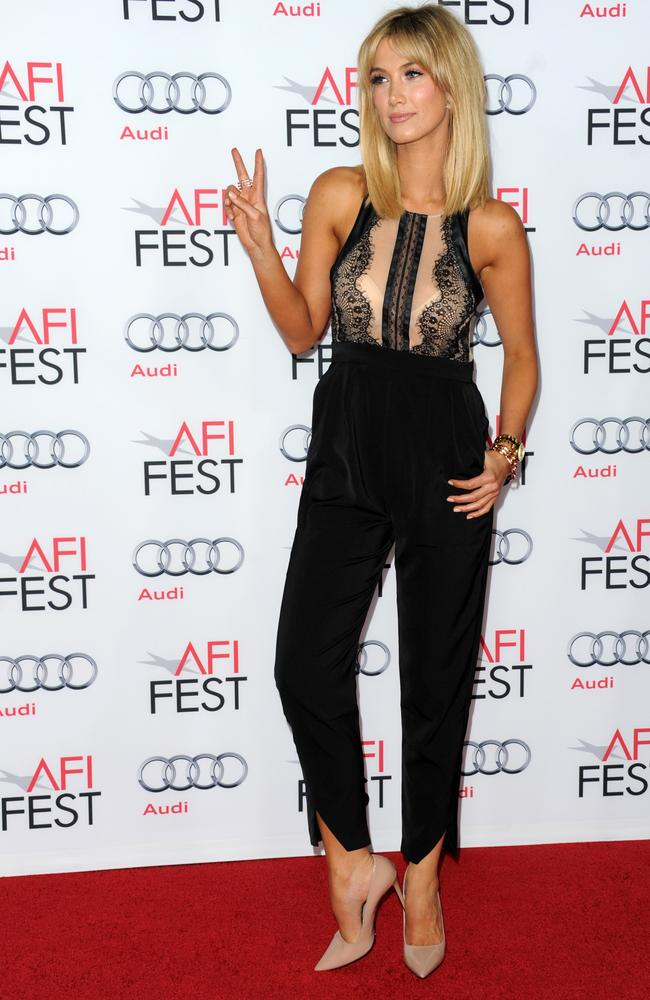 "The Voice Kids coach ... Delta Goodrem attends the screening of ""Out of the Furnace"" during AFI FEST 2013in LA. Picture: Getty"