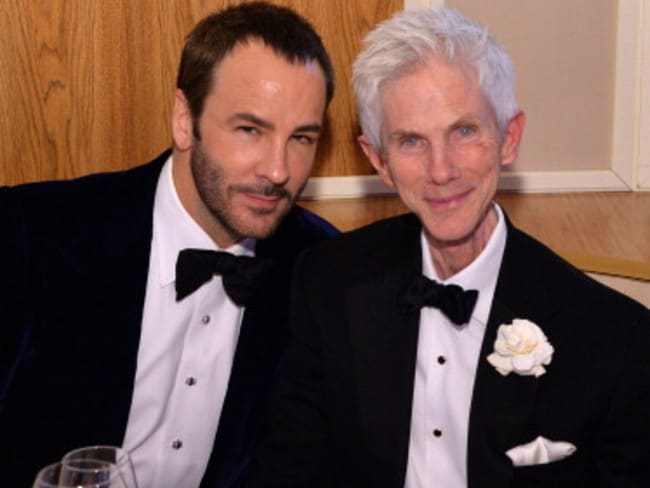 Tom Ford (L) and husband Richard Buckley. Picture: Supplied