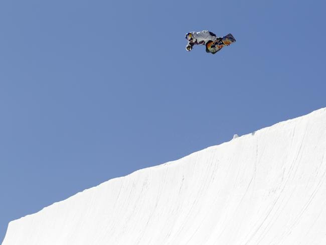 Pipe walls are 22 feet high before you've even launched into the air. Picture: Red Bull.