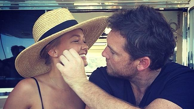 Lara Bingle and Sam Worthington haven't attempted to hide their relationship since going public in October of last year. Picture: Instagram