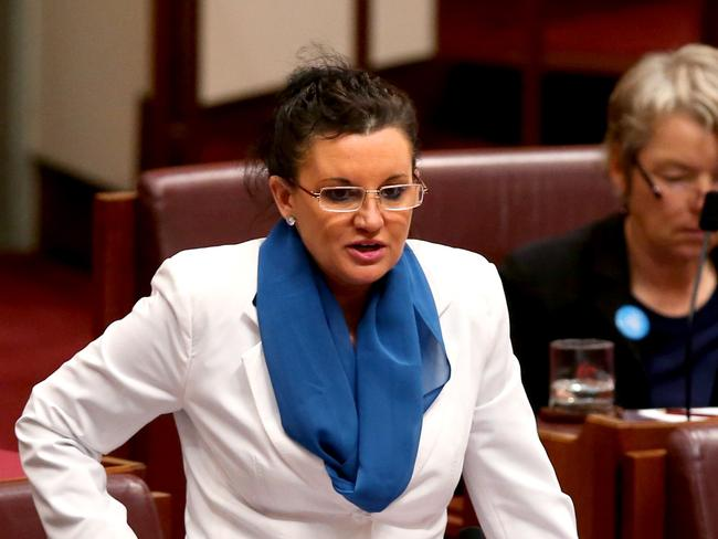 Likes them big ... Palmer United Party Senator Jacqui Lambie.
