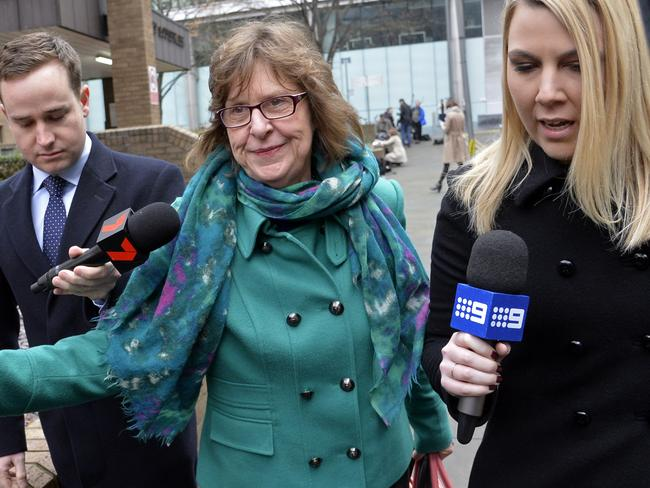 Rolf Harris' niece Jenny seen leaving court. Picture: David Dyson