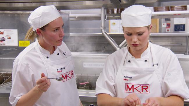 Amanda and Kelsey were stressed from the start. Picture: Channel 7