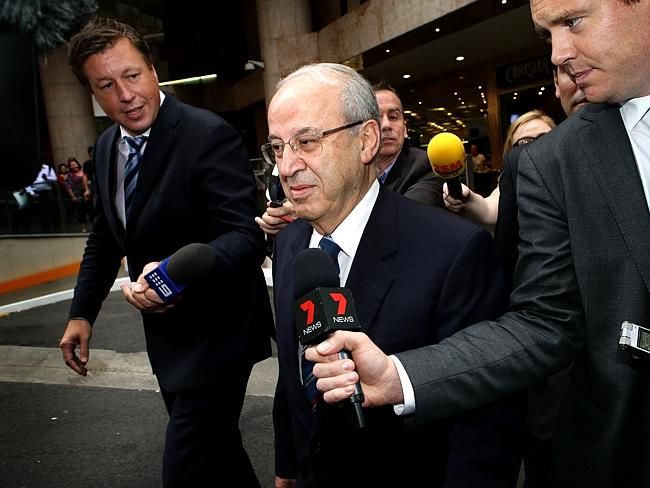 Eddie Obeid leaving the ICAC after giving evidence. Picture: Stephen Cooper
