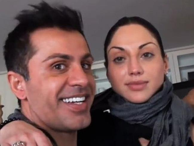 Gittany was convicted of murdering Lisa Harnum, right, by throwing her off his 15th storey balcony. Picture: Channel 7