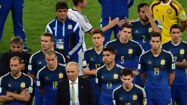 Plenty of glum faces among the Argentine contingent.