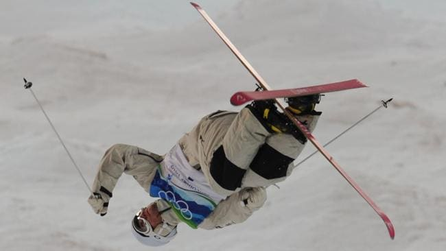 Begg-Smith has been doing water ramp training, which is helpful for the aerial part of mogul skiing.
