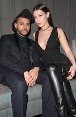 The Weeknd and Bella Hadid attend the Republic Records Grammy Celebration on February 15, 2016 in Los Angeles. Picture: Getty