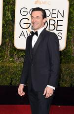 Mad Men's Jon Hamm attends the 73rd Annual Golden Globe Awards held at the Beverly Hilton Hotel on January 10, 2016 in Beverly Hills, California. Picture: Jason Merritt/Getty Images