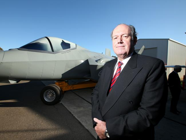 Defence Minister David Johnston ... could be prepared to cut SA adrift. Picture: Simon Cross
