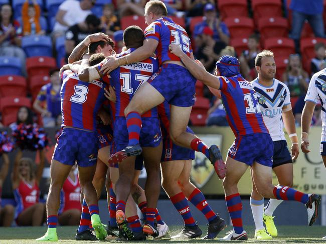 It was pure elation for Newcastle as the Knights ended a 336-day drought.