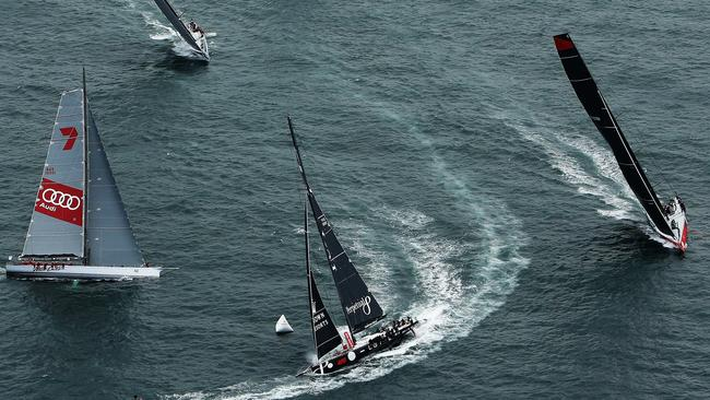 Perpetual Loyal leads the super maxis out of Sydney Harbour last year.