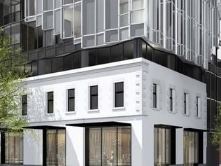 Proposed 26-storey, $14.8 million, mixed-use development of the Great Western Hotel on King St, Melbourne CBD. Pic Supplied.