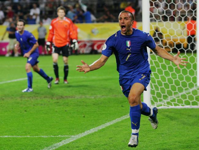 Alessandro Del Piero scores Italy's second goal in its win over Germany in the 2006 World Cup semis.