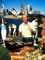 <p>Paul Hogan's 'put another shrimp on the barbie' tourism ad aired in 1984. Picture: Supplied</p>  <br />