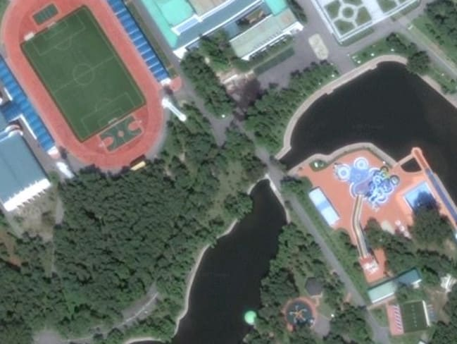 This is one of Kim Jong-un's party compounds, located near Wonsan, on the country's east coast, where he parties with esteemed guests