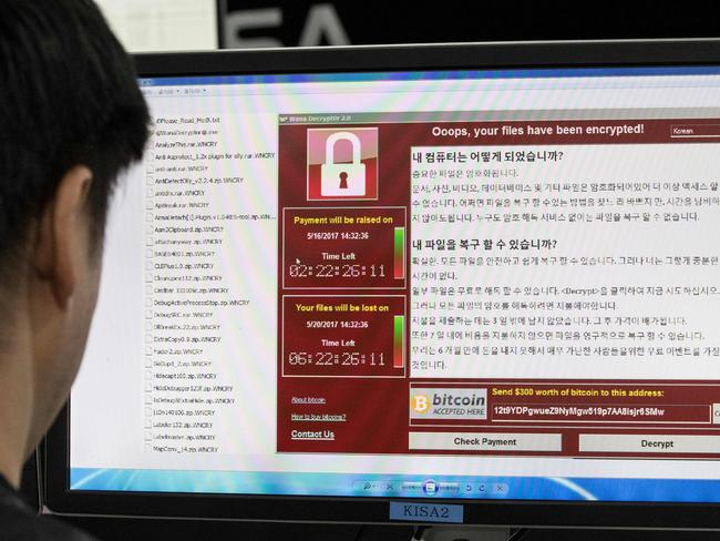 More than 200,000 computers in 150 countries were hit by the ransom cyberattack, described as the largest ever of its kind, last week. Picture: Yonhap/AFP