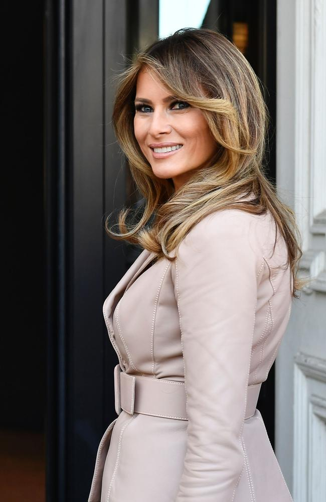 Melania Trump arrives at the Magritte Museum in Brussels. Picture: Eric Lalmand/AFP