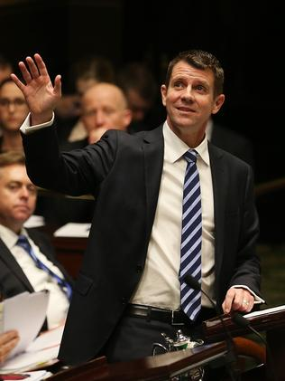 Premier Mike Baird during Question Time after yesterday's State Budget / Picture: Phil Hillyard