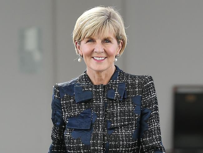 Foreign Affairs Minister Julie Bishop. Picture Kym Smith