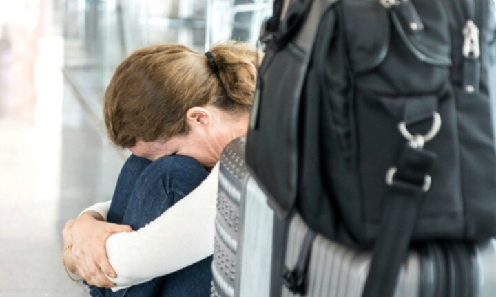 Most incredible thing happened when pregnant mum breaks down at airport
