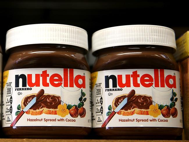 Nutritionist Kristen Beck said a jar of Nutella should be considered a 'sometimes' food, and not an everyday breakfast option. Picture: AFP.