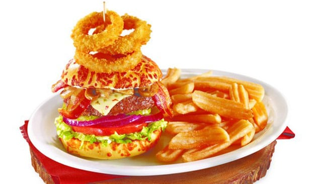 The Ring Burger. Pictured: Supplied