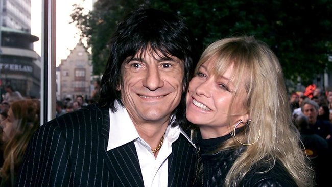 Rolling Stones' Ronnie Wood with then-wife Jo in 2000. She has revealed how they smuggled drugs into the Bahamas.