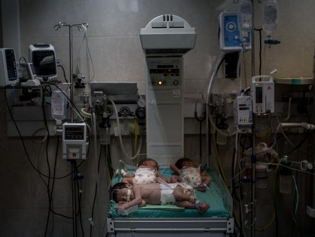 In June, seven babies died due to electricity failures in Gaza. Picture: Chris McGrath