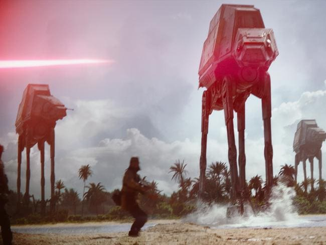 Something as simple as mud or sand could defeat an AT Walker. Picture: Star Wars: Rogue One
