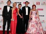 The cast of 'Winners & Losers' arrive at the 2014 Logie Awards at Crown Palladium on April 27, 2014 in Melbourne, Australia. (Photo by Robert Prezioso/Getty Images)