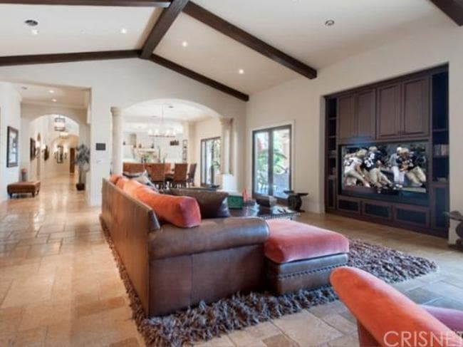 Plenty of space in the family room that opens to the chef's kitchen. Picture: Zillow.com.