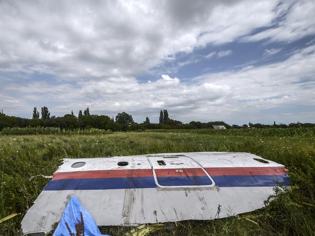 A piece of the wreckage of the Malaysia Airlines flight MH17. AFP PHOTO/ BULENT KILIC