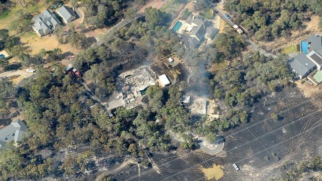 An aerial view of Warrandyte.