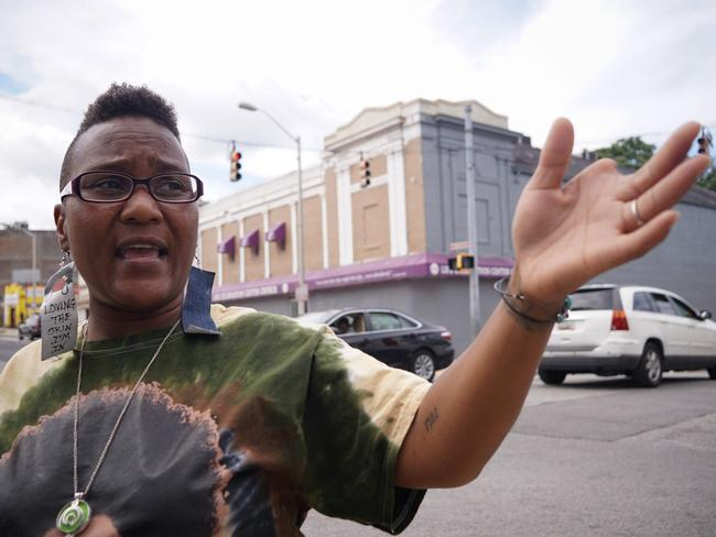 Activist Erricka Bridgeford, one of the organisers of the 'Baltimore Ceasefire'. Picture: AFP/Mandel Ngan
