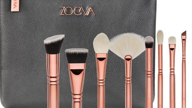 The rose gold ZOEVA brushes which are the third biggest selling product in Australian Sephora stores.
