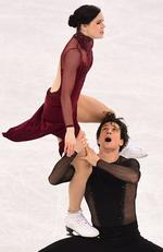 Tessa Virtue and Scott Moir of Canada. Picture: AFP PHOTO / Roberto SCHMIDT