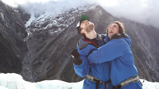 The spectacular Franz Joseph Glacier was a physical test for Hamish and Andy, but they conquered it in some of New Zealand's most incredible scenery. Picture: Supplied.