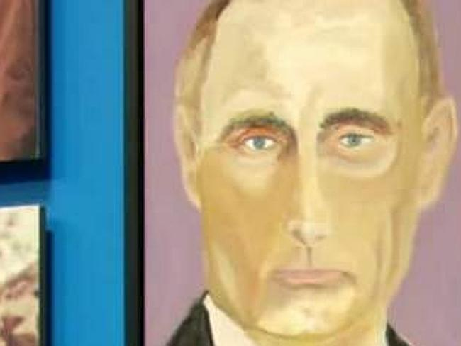 Presidential portraits ... George W. Bush unveils his painting of Russian president Vladi