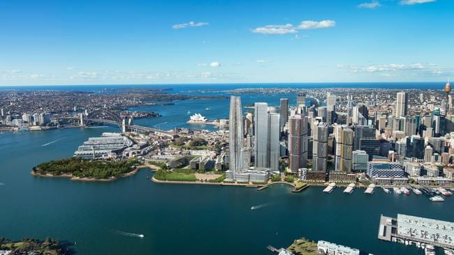 Barangaroo is a magic word for real estate in China where rich investors are buying up the harbourside apartments in this pocket of Australia. Picture: Artist's impression Crown Casino at Barangaroo.