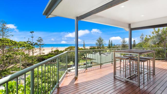 The coastal view from the beach house at 22 Marine Pde.
