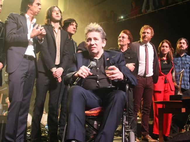 Legendary Pogues star Shane MacGowan has had his own well-documented health issues. Picture: Splash News
