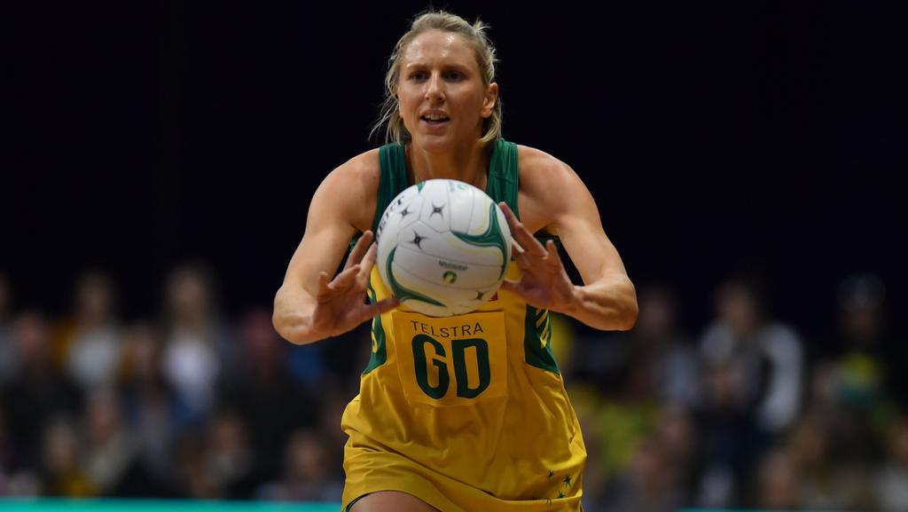 Australian Diamonds legend Clare McMeniman will suit up for her final match in Australian colours. Picture: AAP