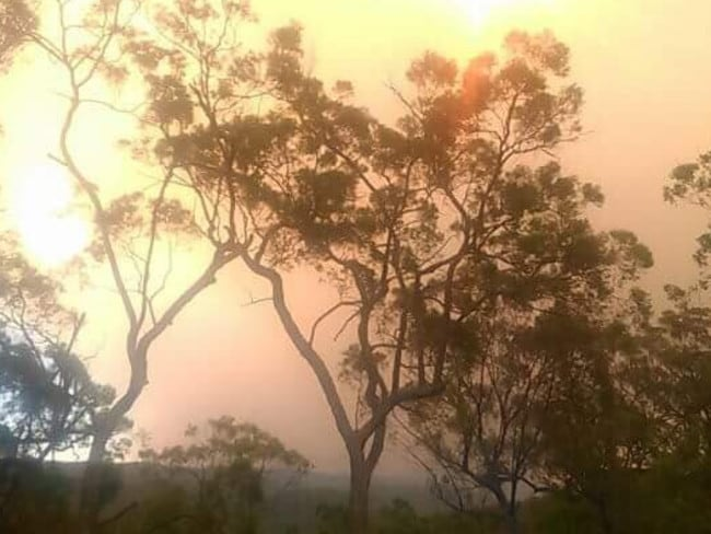 It's a smoky scene at Howes Valley, near Singleton. Picture: Facebook