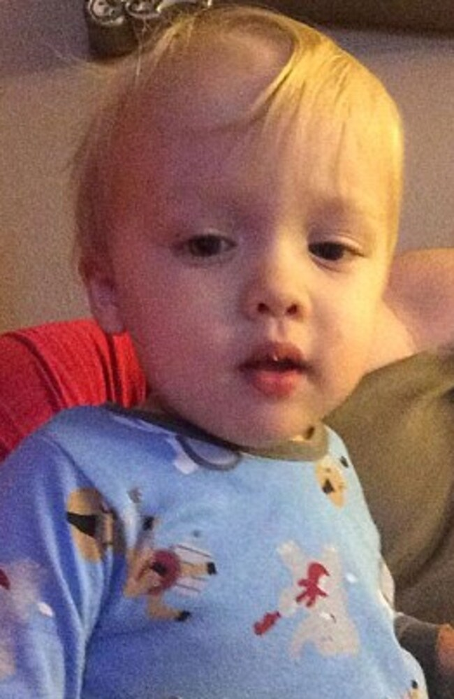 """Alone and in agony"" ... Cooper Harris, 22 months, who died when left for about seven hours in his father's SUV."