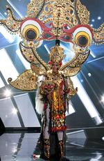 Anindya Kusuma Putri, Miss Indonesia 2015 debuts her National Costume on stage at the 2015 Miss Universe Pagaent on December 16, 2015 in Las Vegas. Picture: HO/The Miss Universe Organization